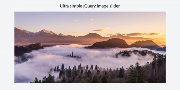 Ultra jednostavan jQuery slider