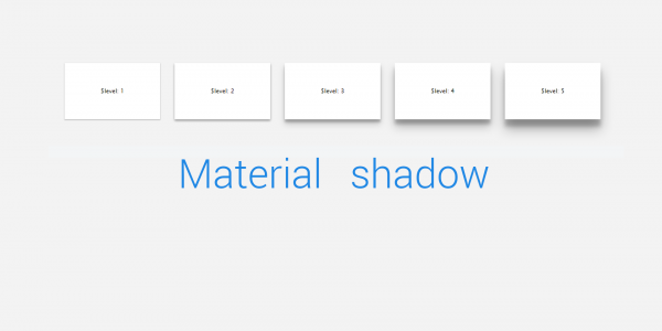 Simple material shadow