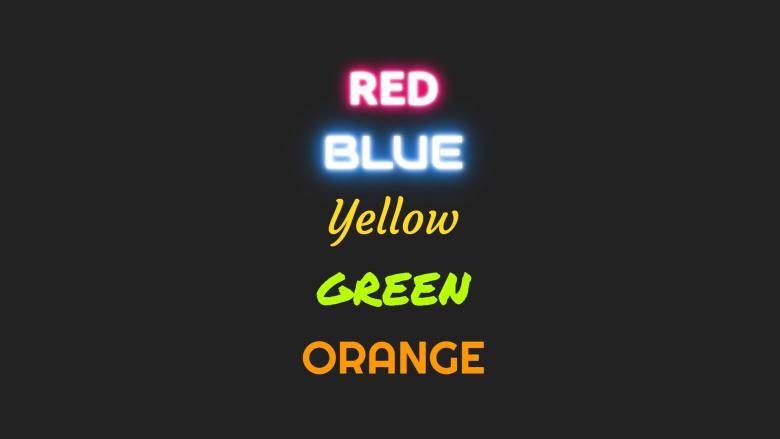 Neon glow text