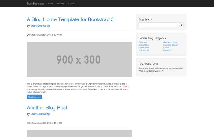 bootstrap_template